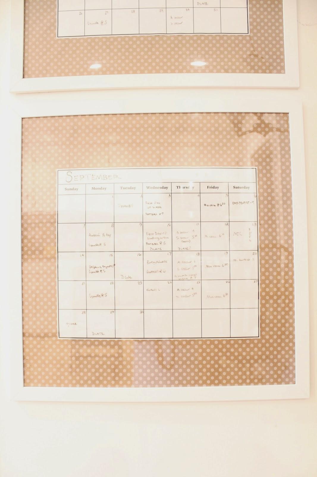 dry erase calendar