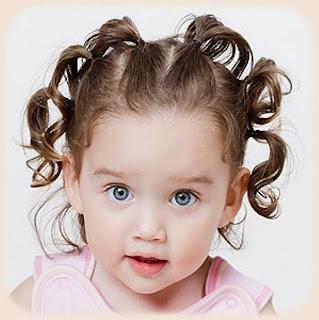 Gaya rambut anak perempuan lucu