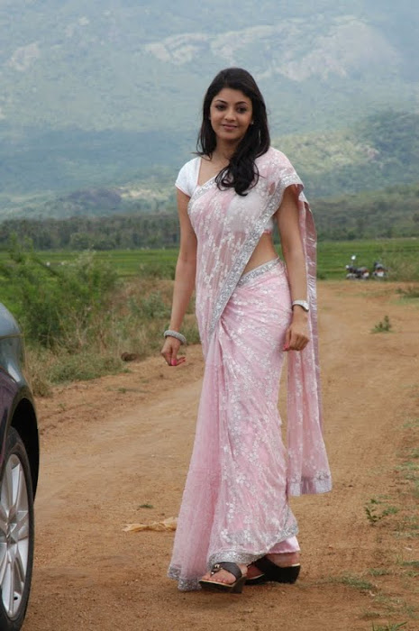 kajal agarwal looking in saree glamour  images