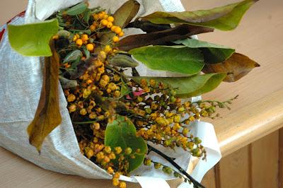 Love these yellow crocosmia seed heads