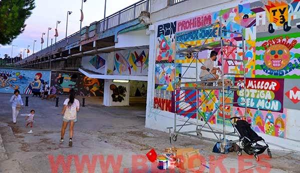 Zosen y Mina graffitis
