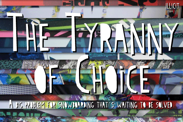 the tyranny of choice essay Destiny is not a matter of chance but a matter of choice essay a pages:2   therefore, man's future life is a consequence of his own choices all people are.