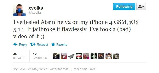 Absinthe 2.0 iOS 5.1.1 Untethered Jailbreak