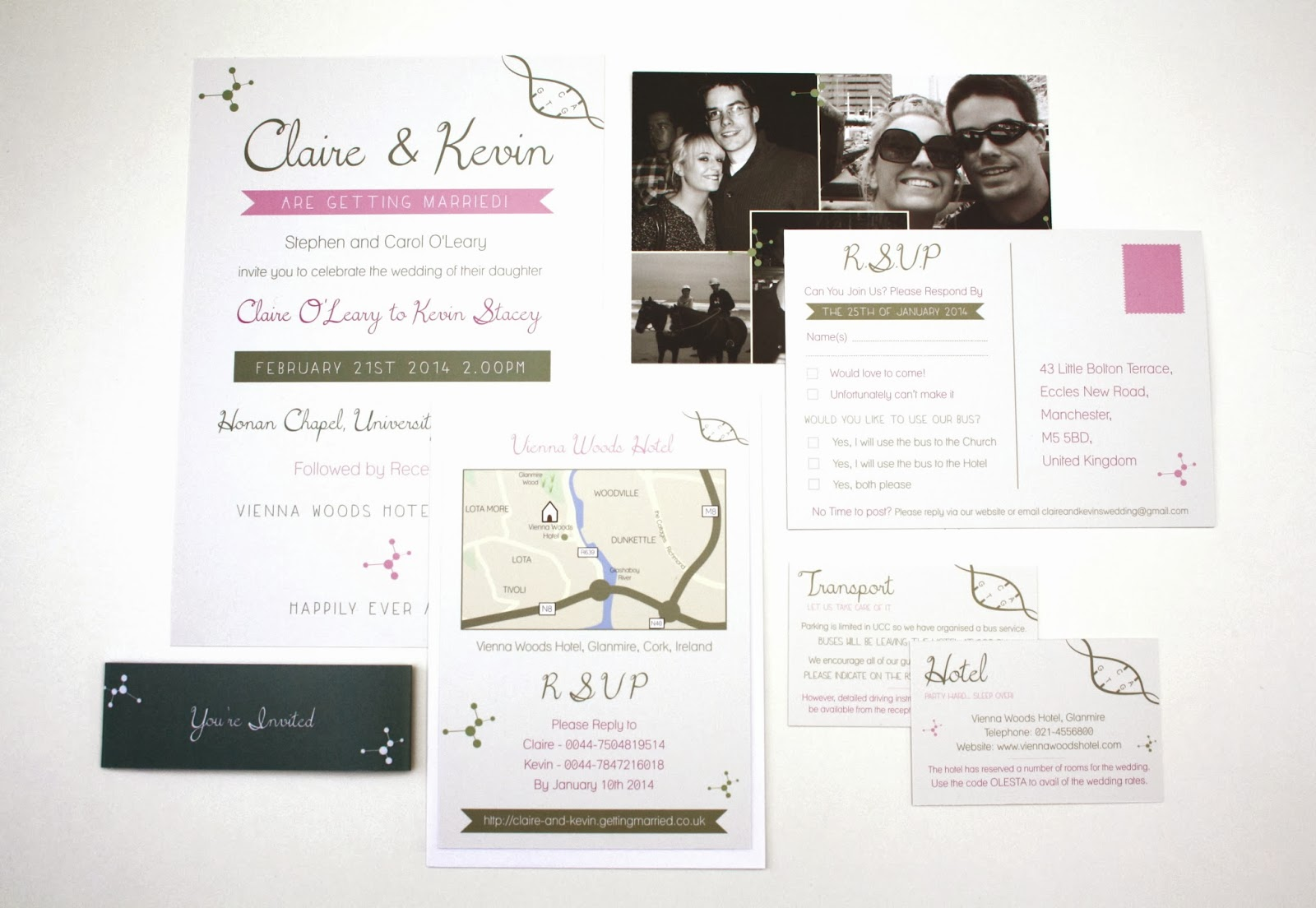 Rodo Creative Bespoke Wedding Stationery: Claire and Kevin\'s Science ...
