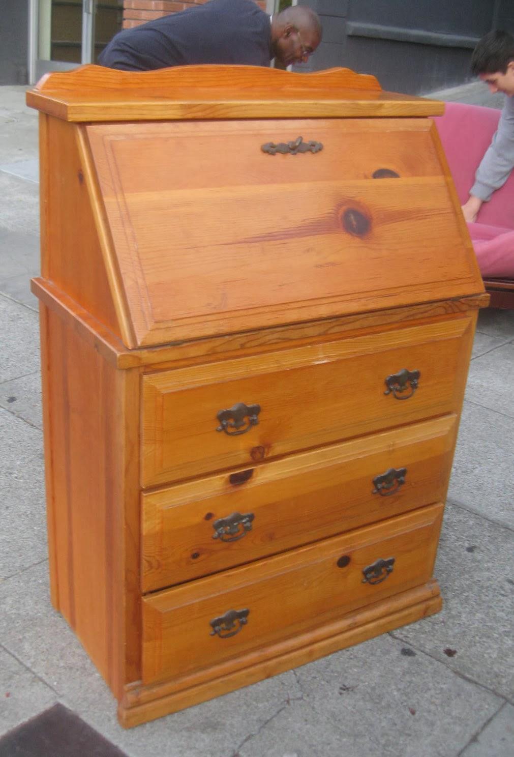 Uhuru Furniture Collectibles Sold Pine Secretary Desk