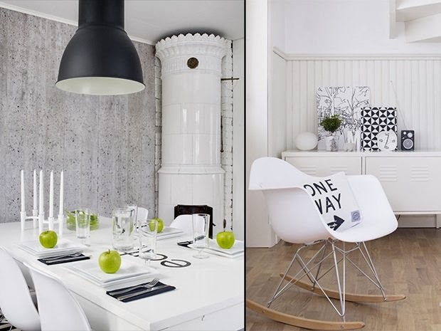 amenajari, interioare, decoratiuni, decor, design interior, stil scandinav, interior amenajat in alb si negru, sufragerie ,