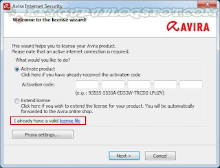 Avira Antivirus Premium 2013 Final + Activation Serial Key Valid till