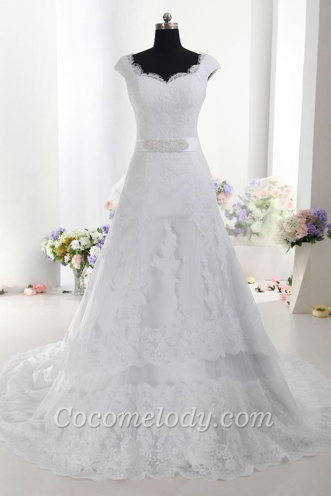 Wedding dress for rustic weddings