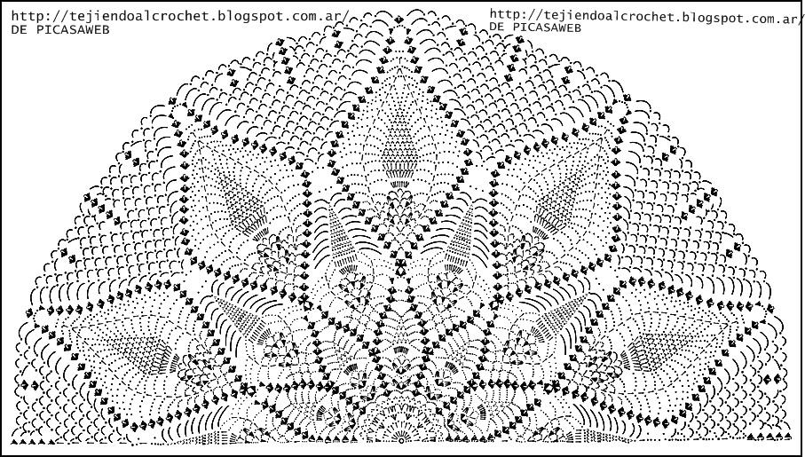 CROCHET - GANCHILLO - PATRONES - GRAFICOS: CHAL ,CHALINA TEJIDA A ...