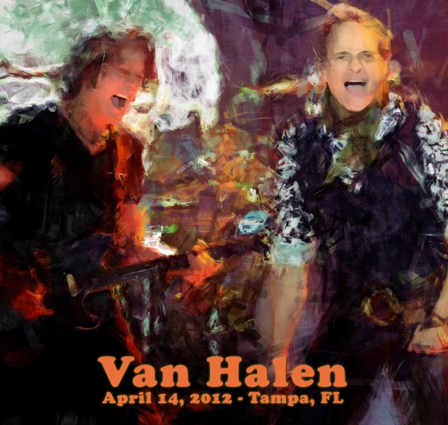 Van Halen - Live at Bay Times Forum, Tampa, 14 April 2012 (CD & Covers