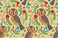 The Vintage Horned Owl Pattern by Haidi Shabrina