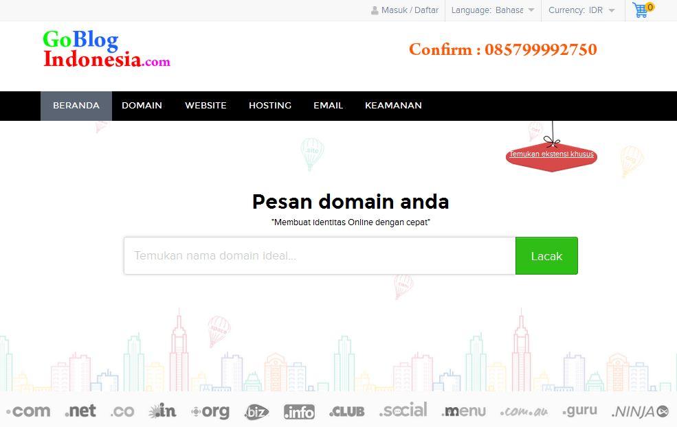 Beli Domain Langsung Aktif, cocok buat Blogger!