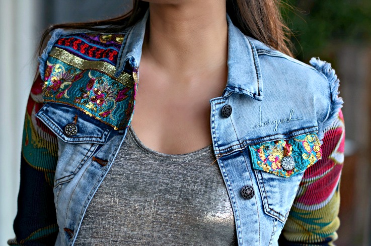Desigual floral denim jacket