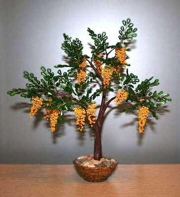 Для изготовления деревьев из бисера