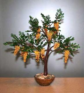 Как сделать дерево из бисера