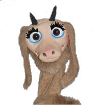 Professional Baby goat latex puppet