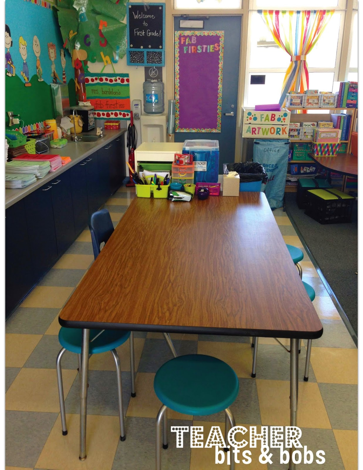 school rectangle table. Here Is My Back Rectangle Table. I Got The Stools This Summer At Jo-Ann\u0027s And They Are Perfectly Perfect! School Table A