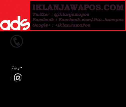 Pasang Iklan Jawa Pos Reguler Display Kolom 2015 Hitam Putih