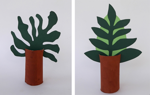 toilet paper roll crafts, toilet paper roll trees, crafts, kids trees, how to make trees,