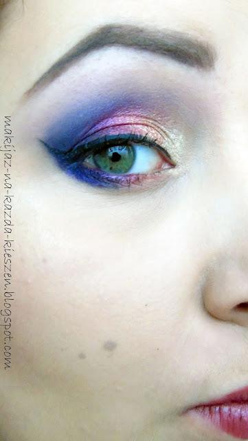 Kolorowe szaleństwo na jesienne dni. Makijaż z fioletem w roli głównej