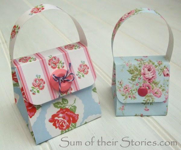 Paper craft handbag gift box