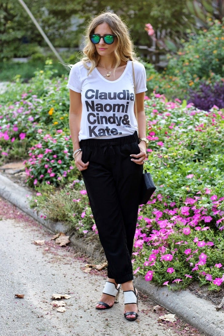 Slouchy Pants Outfit with High Heel Shoes