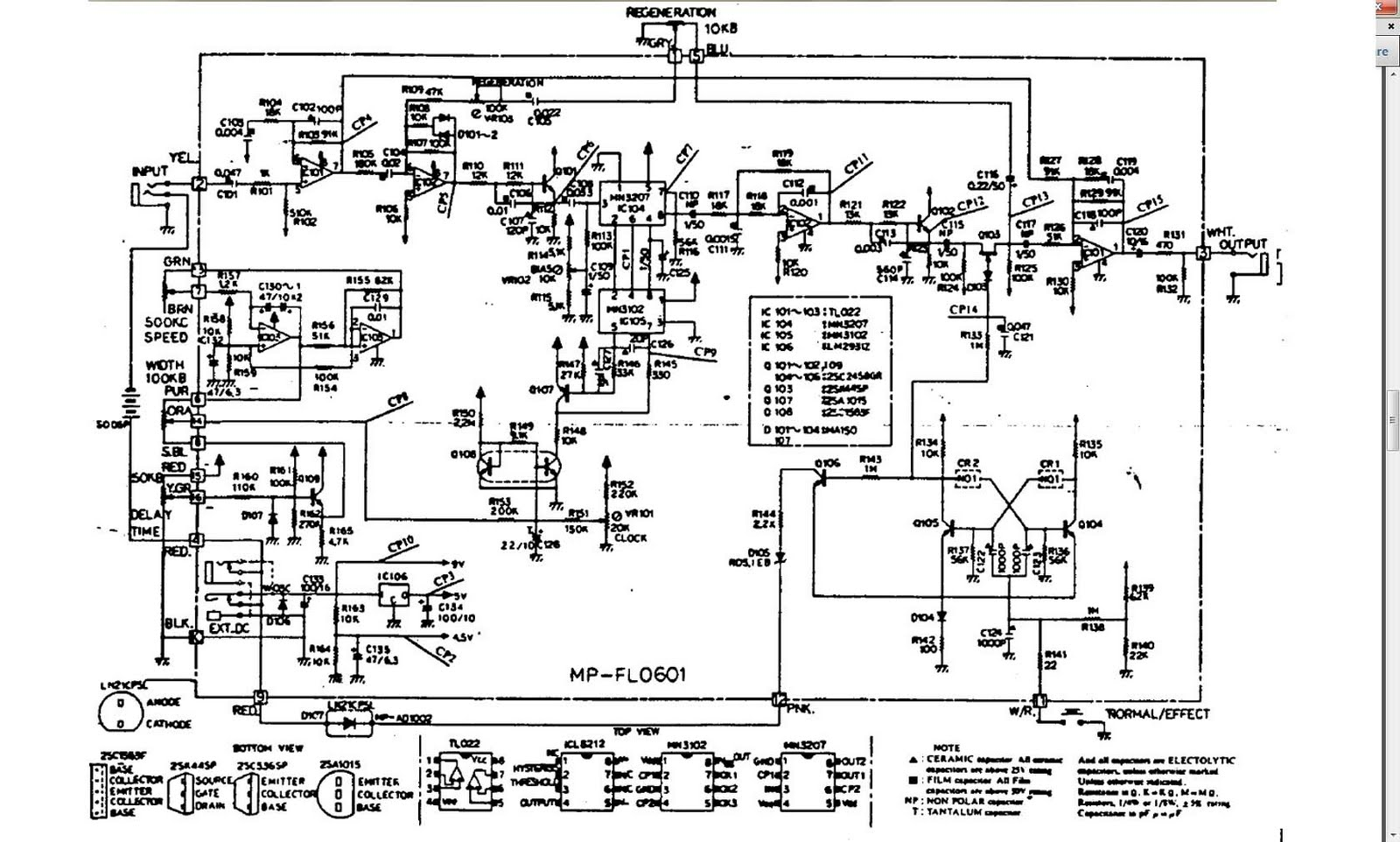 Schematic Ibanez Cp9 - Electrical Drawing Wiring Diagram •
