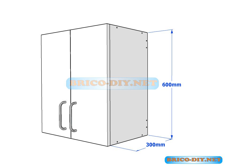Muebles de cocina plano de alacena de melamina esquinera for Disenar plano cocina