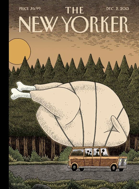 The NewYorker Thanksgiving cover by Tom Gauld