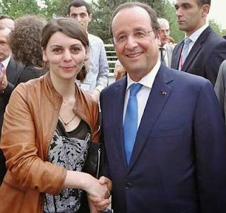 Nino Maisuradze en compagnie du Président, François Hollande lors de sa visite récente à Tbilisi en Géorgie © Chess & Strategy