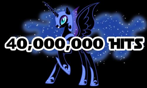 Equestria Daily Mlp Stuff 40 000 000 Hits