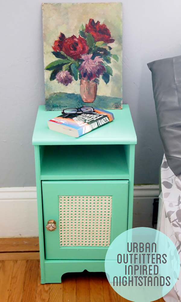 Painted bedside table. Urban outfitters inspired bedside table/nightstand. If you loved painted furniture or are thinking about using Chalk paint on furniture for the first time then you should check this post full of 25 incredible makeoevers. 25 Fabulous painted furniture ideas!