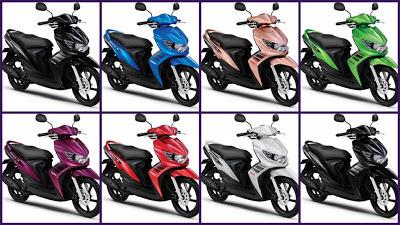 Pilihan Warna Motor Yamaha Injection.
