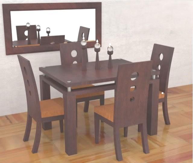 Design comedor 4 puestos vidrio las mejores ideas e for Comedor 4 puestos madera