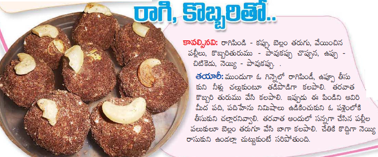Healthy food recipes ragi laddu recipe in telugu ragi laddu recipe in telugu forumfinder Gallery