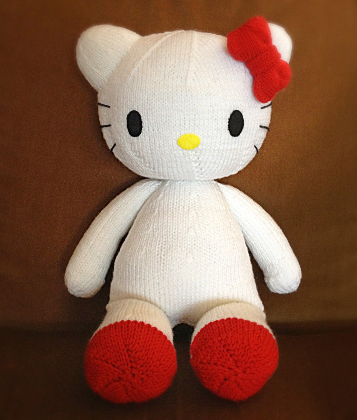 Free Knitting Patterns Stuffed Toys : knitterbees: Hello Kitty plush toy pattern