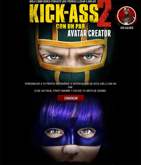 Crea tu propio avatar de Kick-Ass 2 y presume de el