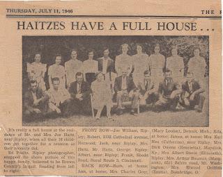 Haitz Family in The Ripley Bee, 1946