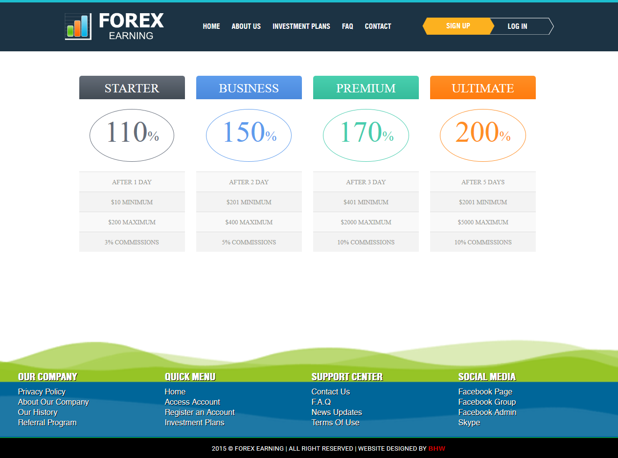 Free forex blogger template