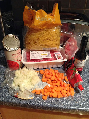 spaghetti bolognese ingredients