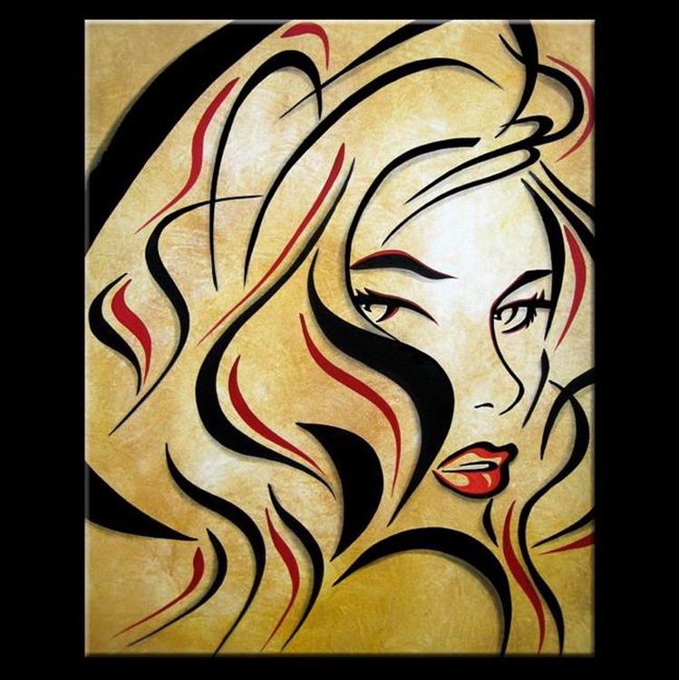 Imágenes Arte Pinturas: Rostros Modernos: Expresiones del