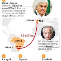 O plano de fuga de Cerveró bolado por Delcídio e pago pelo banqueiro.