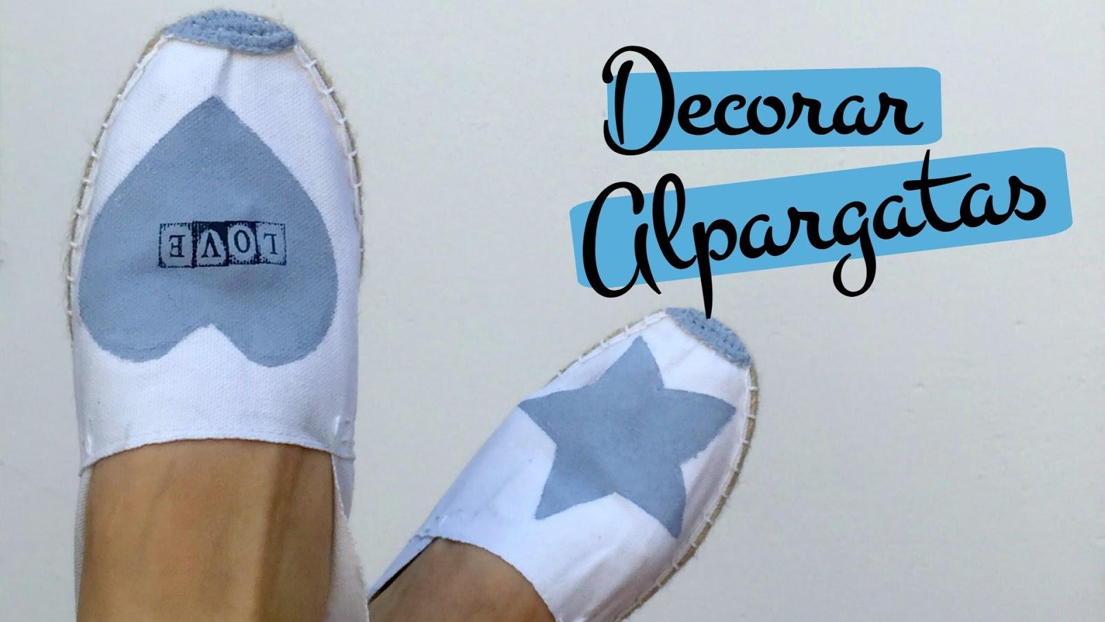 Pinafili pinafili films decorar zapatillas de esparto o alpargatas - Alpargatas de esparto ...