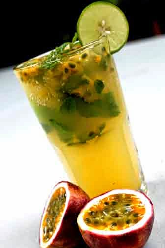 verre mojito deux fruits de la passion