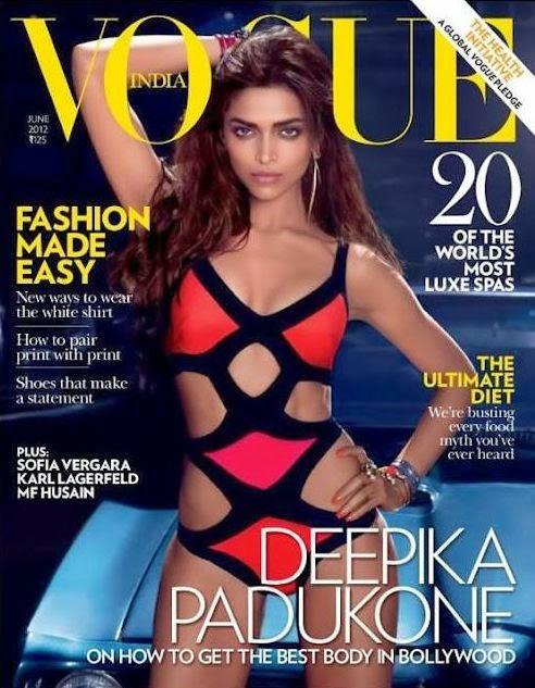 Deepika Padukone Hot Bikini Show Magazine Cover