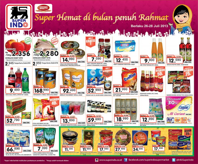 KOMPAS 26 28 JULI (HALF PAGE) 1200 Katalog Superindo Weekend Promo (Promo Koran) Terbaru Periode 26 28 Juli 2013