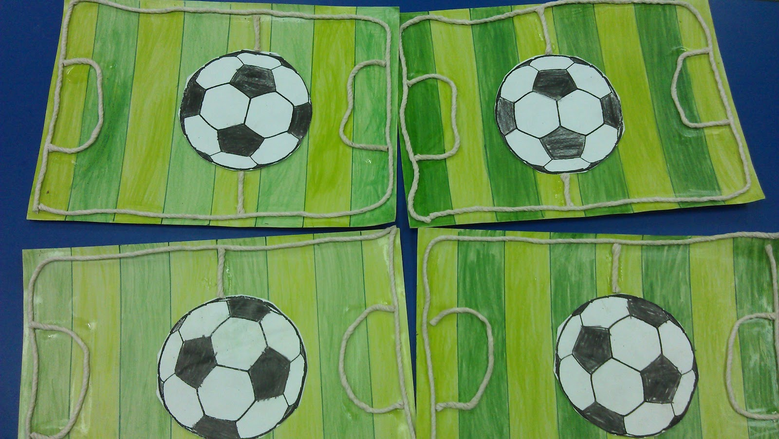 Football field craft easy craft ideas for Football crafts for preschoolers