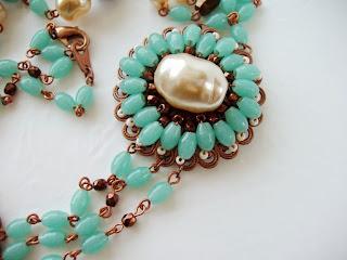 Collier Sautoir Ancienne perles de verre Halskette perlen antik alt