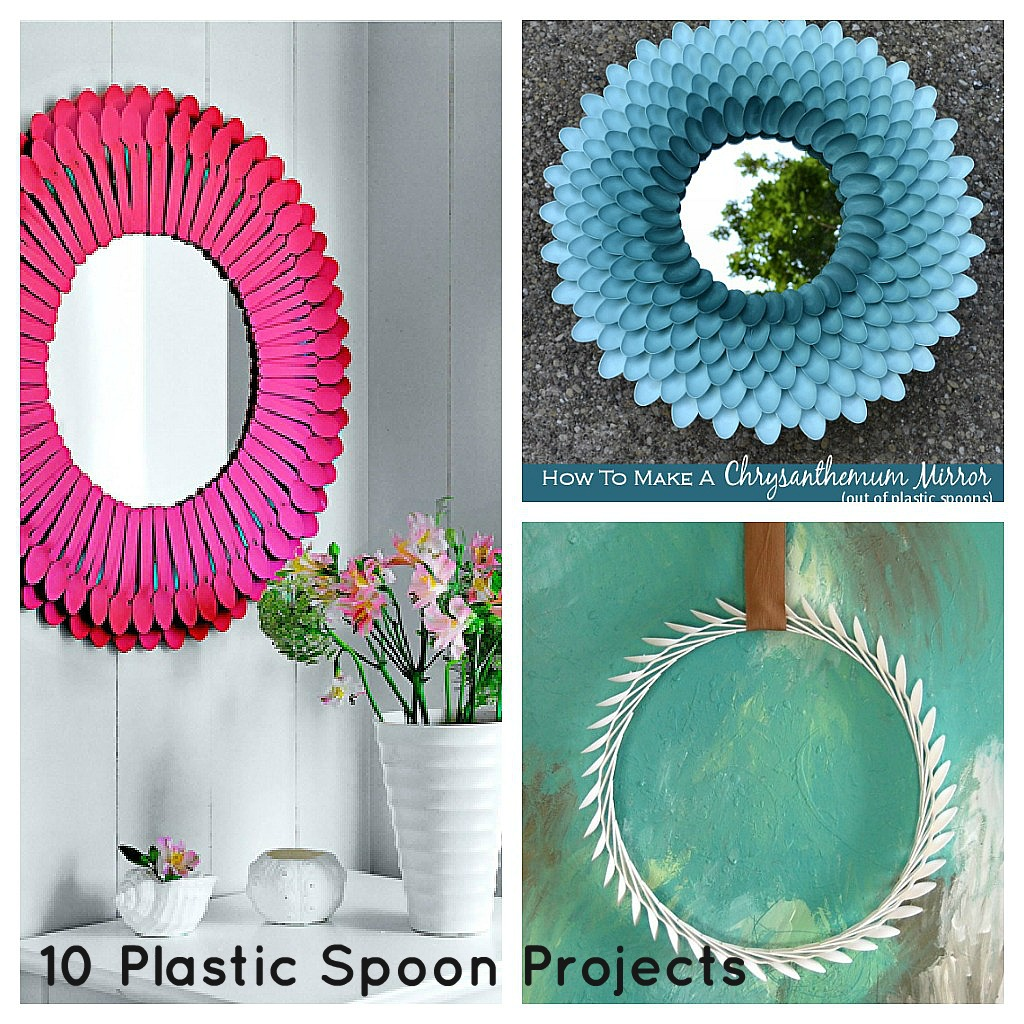 How to recycle recycled plastic spoons and forks for Recycle project ideas