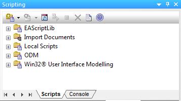 Enterprise Architect - scripting window
